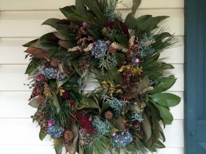 Wreath of Southern Magnolia et al.
